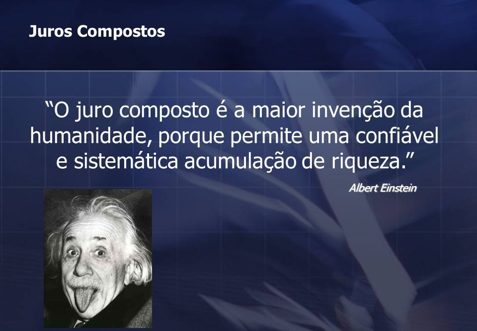 Albert Einstein juros compostos