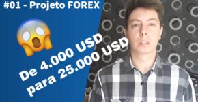 #01 - Projeto FOREX de 4.000 USD para 25.000 USD em 5 Anos