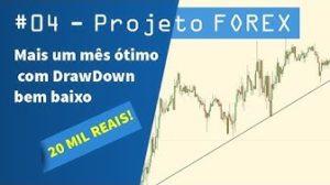 04 - Projeto FOREX Mais um mês ótimo com DrawDown bem baixo